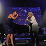 Alicia Keys & Carole at the Black Ball - Keep A Child Alive.  Photo: Wire Image