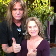 Hanging out with Sebastian Bach, who plays Gil - Feb. 2005. Photo by Kerry Tobin
