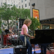 Carole playing The Today Show 7-15-05. Photo by Elissa Kline