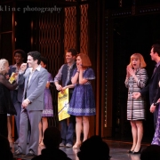 Cast members recognize the real Carole King.  Photo by Elissa Kline