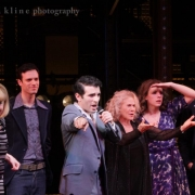 Carole offered to sing a song to help raise money for Broadway Cares.  Photo by Elissa Kline