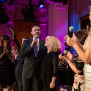 """Carole King performs during a concert honoring her in the East Room of the White House, May 22, 2013. President Barack Obama presented King with the 2013 Library of Congress Gershwin Prize for Popular Song. """"Carole King: The Library of Congress Gershwin Prize In Performance at the White House"""" can be viewed at pbs.org. Photo credit: White House Photo by Pete Souza."""
