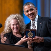 "Carole King performs during a concert honoring her in the East Room of the White House, May 22, 2013. President Barack Obama presented King with the 2013 Library of Congress Gershwin Prize for Popular Song. ""Carole King: The Library of Congress Gershwin Prize In Performance at the White House"" can be viewed at pbs.org. Photo credit: White House Photo by David Lienemann."