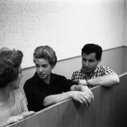 Carole, Paul Simon & backing vocalist discussing a playback. Photos Courtesy of Sony Music Entertainment Archive