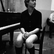 Carole King, age 17,  RCA Studio in New York City 1959. Photos Courtesy of Sony Music Entertainment Archive