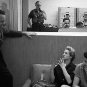 Carole seated with Gerry Goffin speaks with Aldon Music executive Al Nevins. Photos Courtesy of Sony Music Entertainment Archive