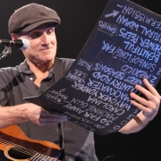 Nashville - James shares the song list. Photo by Elissa Kline