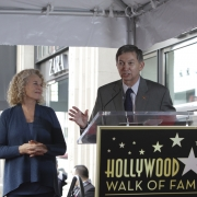 Carole with with Leron Gubler, President of Hollywood Chamber of Commerce. Photo by Elissa Kline