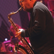 "Tom Scott wailing on""Jazzman"".  Photo by Elissa Kline"