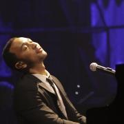 "John Legend performing ""You've Got A Friend"".  Photo by Elissa Kline"