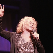 "Carole King performing ""Hey Girl"".  Photo by Elissa Kline"