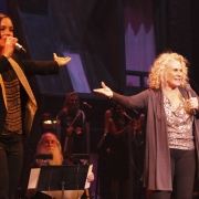"Alicia Keys & Carole King performing ""A Natural Woman"".  Photo by Elissa Kline"