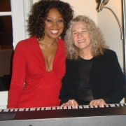 Yolanda Adams and Carole after rehearsing for their performance at the Financial Welcome Breakfast on 1/18/09. Phot by CKP