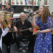 "Carole and Abby Mueller sing ""I Feel The Earth Move"". Photo: Elissa Kline"